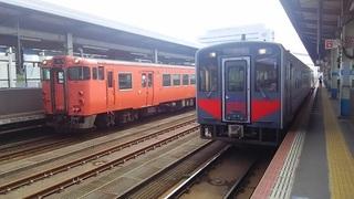 鳥取駅を発つ